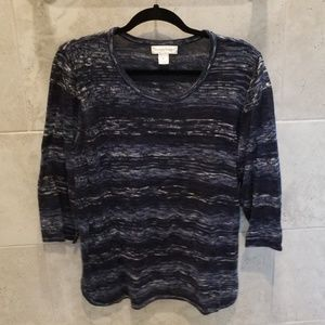 Christopher Banks blue 3/4 sleeve sweater